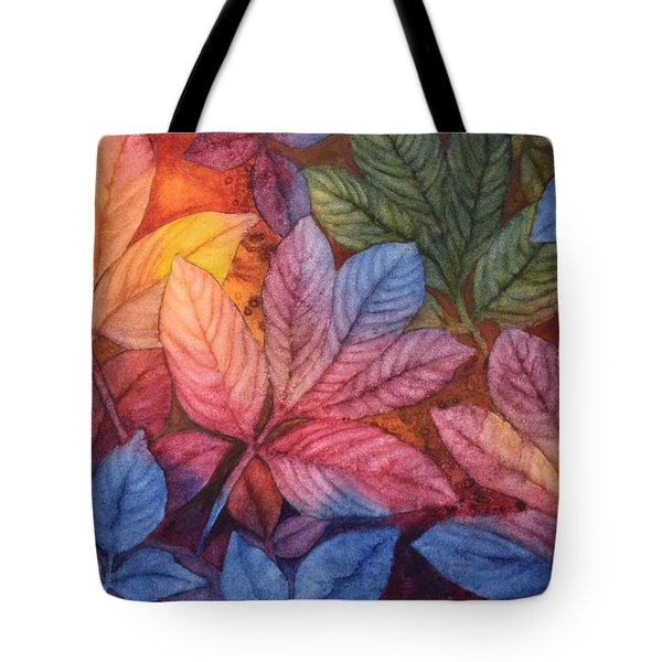 Autumn Color Tote Bag by Nancy Jolley