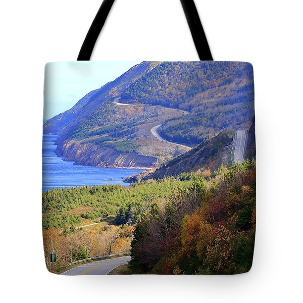 Autumn Color On The Cabot Trail, Cape Breton, Canada Tote Bag