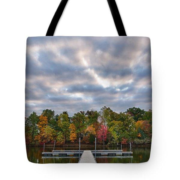 Autumn Colors At The Lake Tote Bag