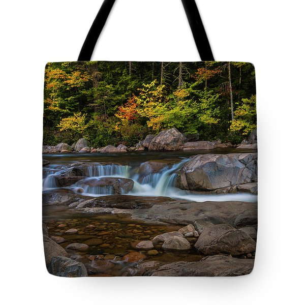 Tote Bag featuring the photograph Autumn Colors In White Mountains New Hampshire by Ranjay Mitra