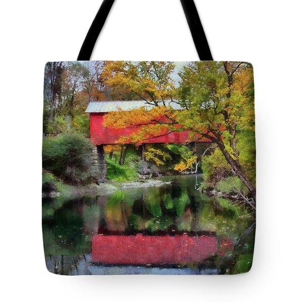 Autumn Colors Over Slaughterhouse. Tote Bag