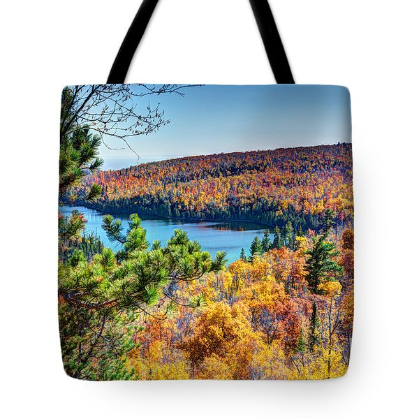 Autumn Colors Overlooking Lax Lake Tettegouche State Park II Tote Bag