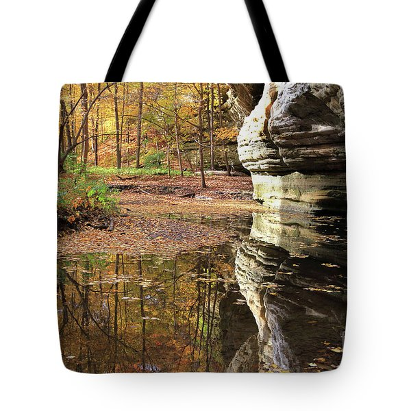 Autumn Comes  To Illinois Canyon  Tote Bag