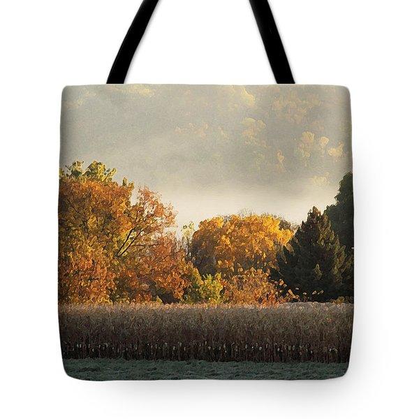 Autumn Cornfield Tote Bag