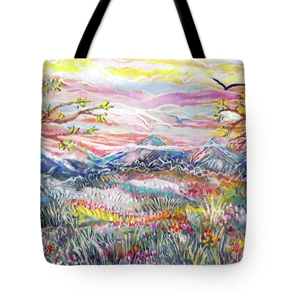 Autumn Country Mountains Tote Bag