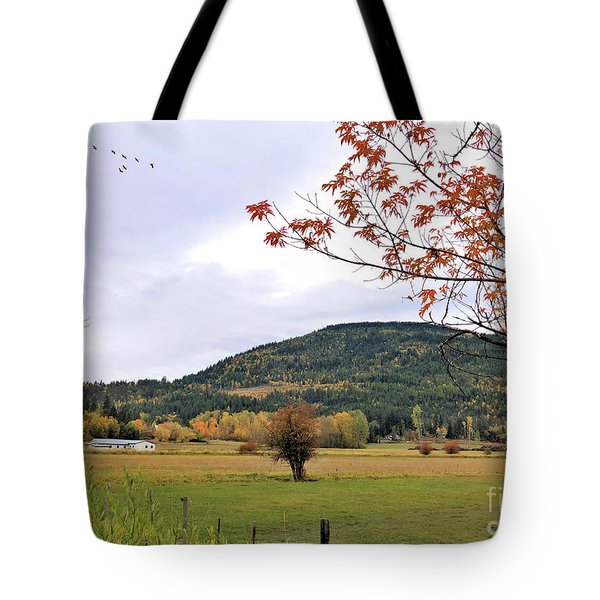 Autumn Country View Tote Bag