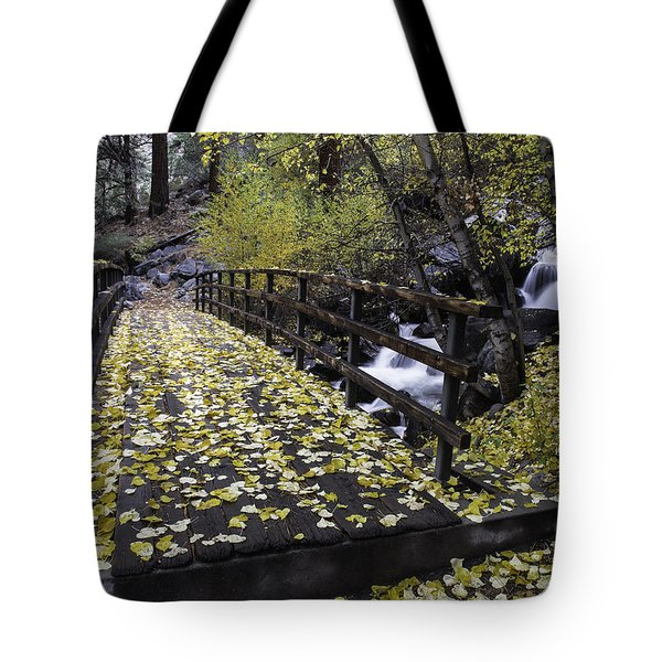 Autumn Crossing Tote Bag