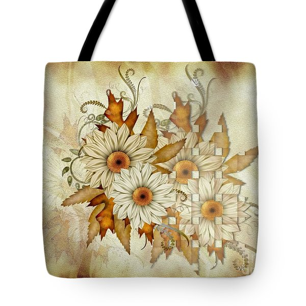 Autumn Daisys Tote Bag