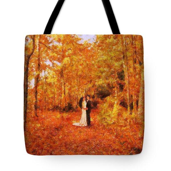 Autumn Dance Tote Bag by Jai Johnson