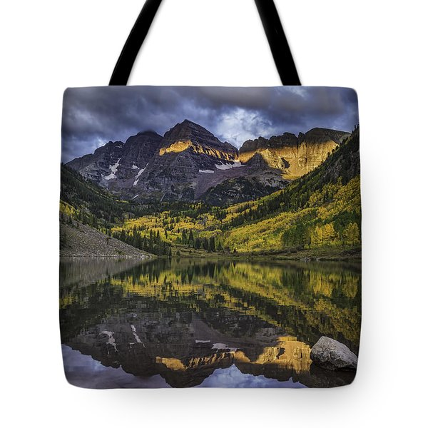 Tote Bag featuring the photograph Autumn Dawn by Bitter Buffalo Photography