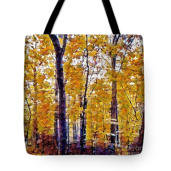 Autumn  Day In The Woods Tote Bag