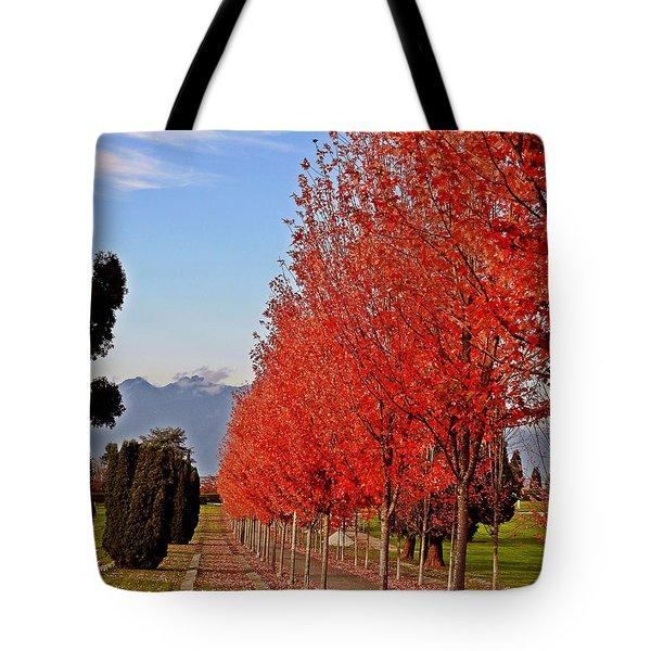 Autumn Delight, Vancouver Tote Bag