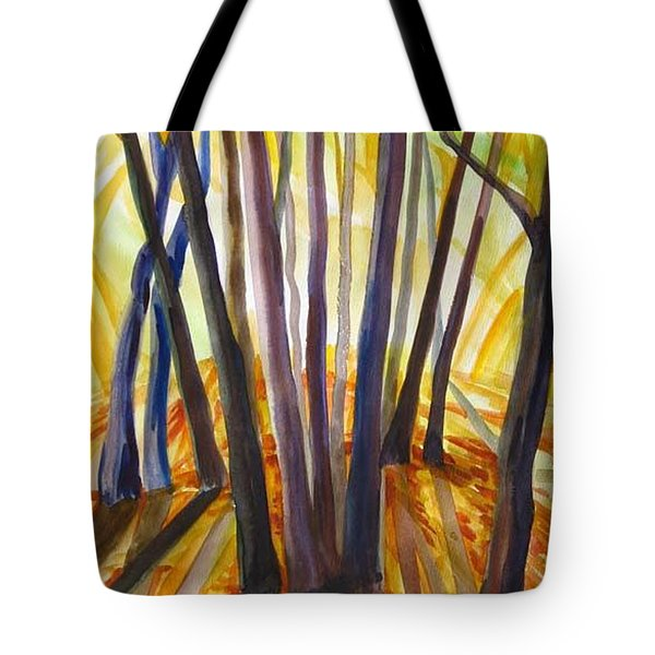 Tote Bag featuring the painting Autumn Design by Anna  Duyunova