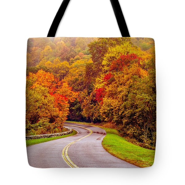Autumn Drive On The Blue Ridge Tote Bag by Alex Grichenko