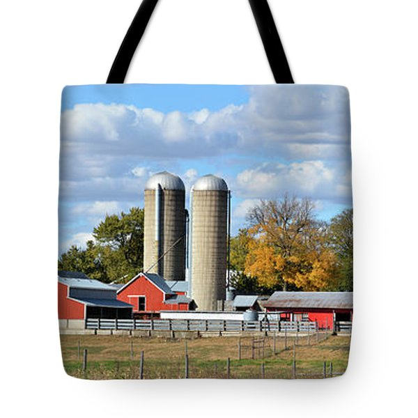 Autumn Elk Farm Tote Bag by Bonfire Photography