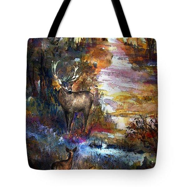 Autumn Encounter Tote Bag