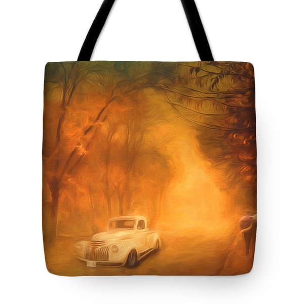 Autumn Evening Tote Bag by Jim  Hatch
