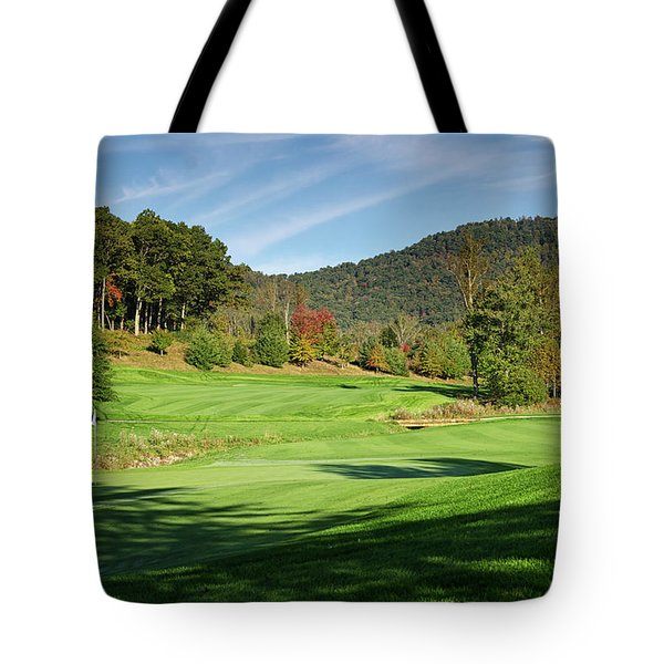 Tote Bag featuring the photograph Autumn Fairway by Claire Turner