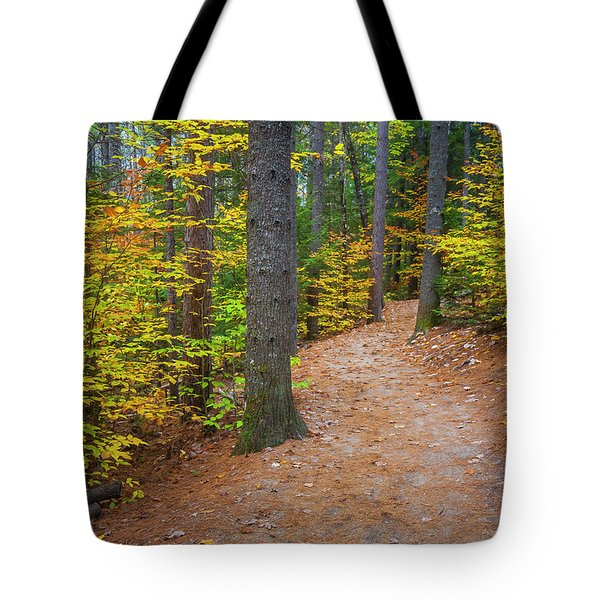 Tote Bag featuring the photograph Autumn Fall Foliage In New England by Ranjay Mitra