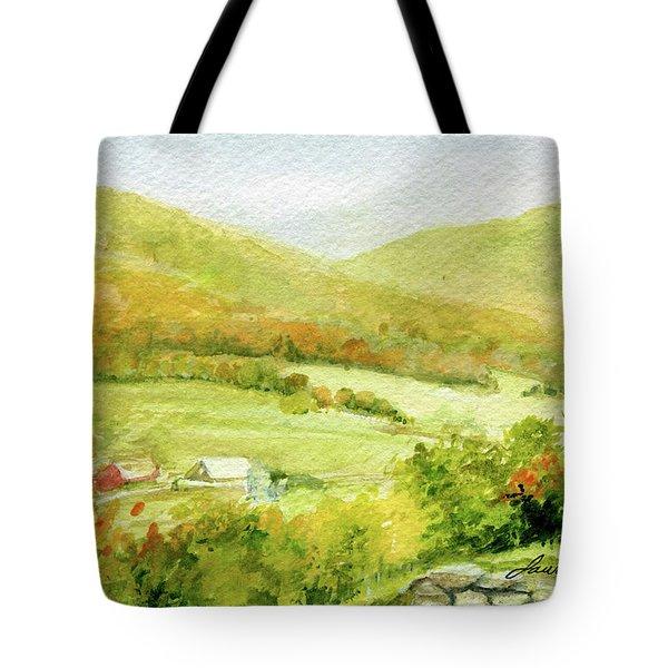 Autumn Farm In Vermont Tote Bag