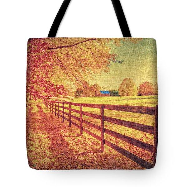 Autumn Fences Tote Bag