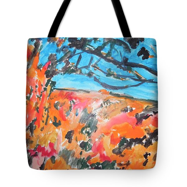 Autumn Flames Tote Bag by Esther Newman-Cohen
