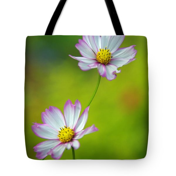 Tote Bag featuring the photograph Autumn Flowers by Byron Varvarigos