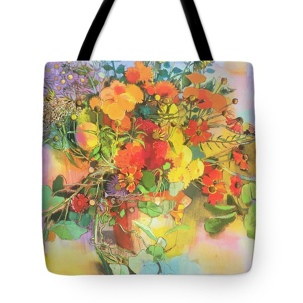 Autumn Flowers  Tote Bag by Claire Spencer