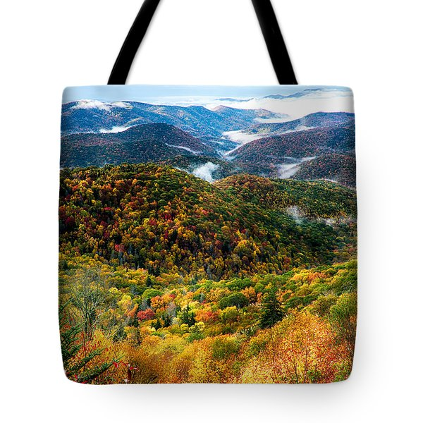 Autumn Foliage On Blue Ridge Parkway Near Maggie Valley North Ca Tote Bag