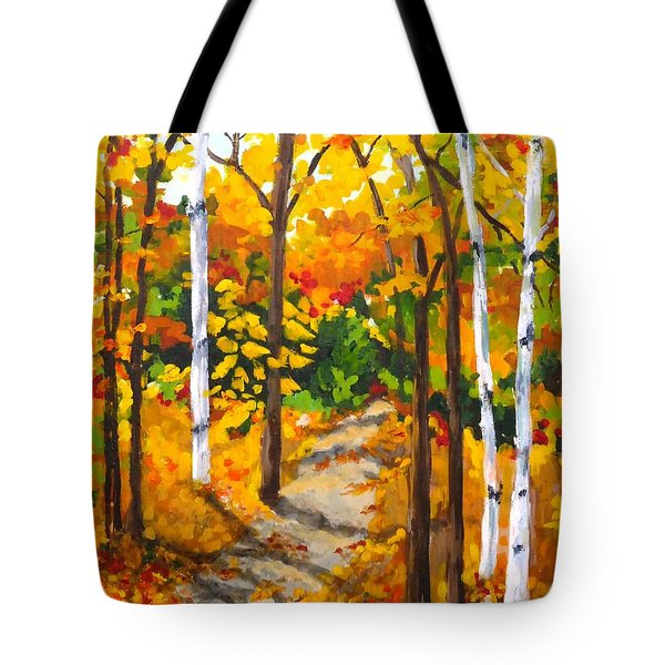 Autumn Forest Trail Tote Bag
