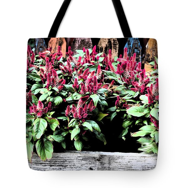 Tote Bag featuring the painting Autumn Fowers 9-11-15 by Mas Art Studio