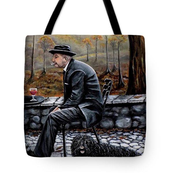 Autumn Friends Tote Bag by Judy Kirouac