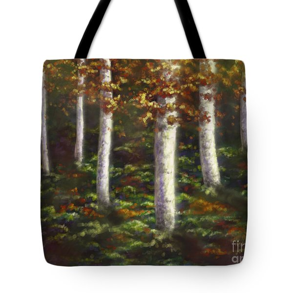 Tote Bag featuring the digital art Autumn Ghosts by Amyla Silverflame