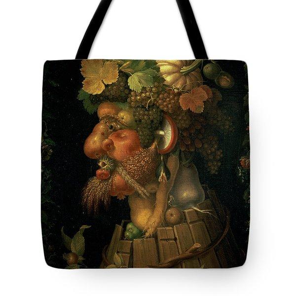 Autumn Tote Bag by Giuseppe Arcimboldo