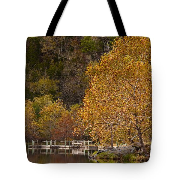 Tote Bag featuring the photograph Autumn Glory In Beaver's Bend by Tamyra Ayles