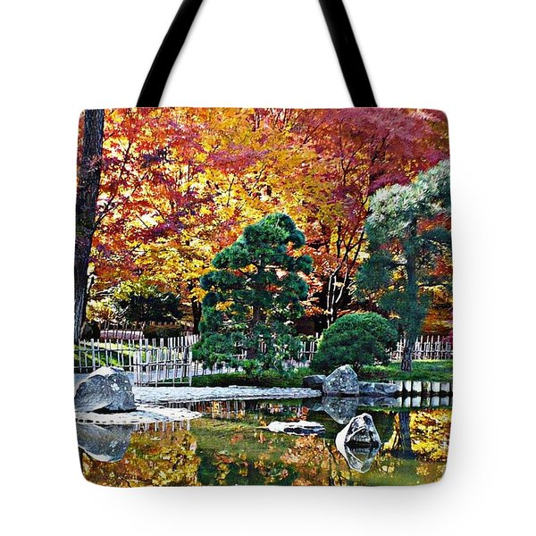 Autumn Glow In Manito Park Tote Bag by Carol Groenen
