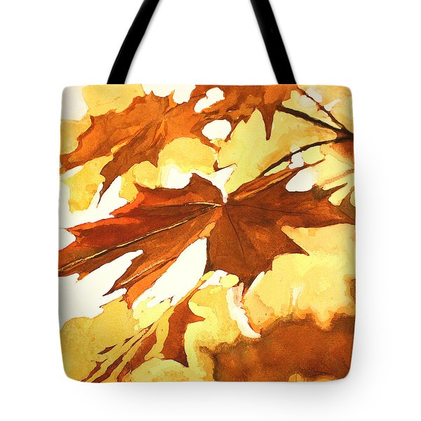 Autumn Greeting Tote Bag by Rachel Hames