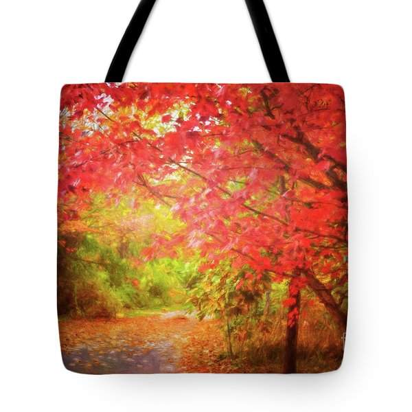 Glorious Foliage On The Rail Trail Tote Bag