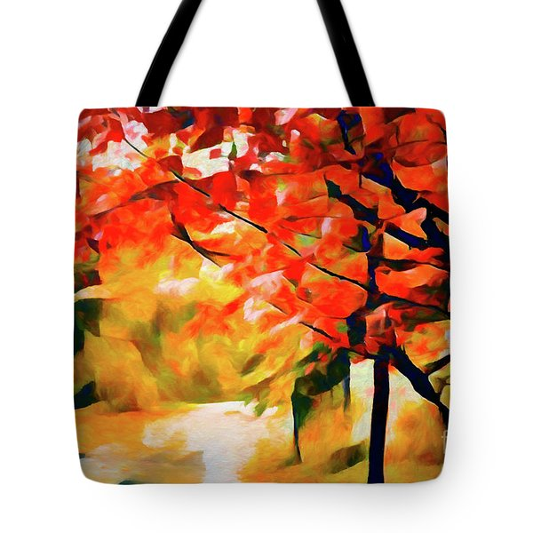 Glorious Foliage On The Rail Trail - Abstract Tote Bag