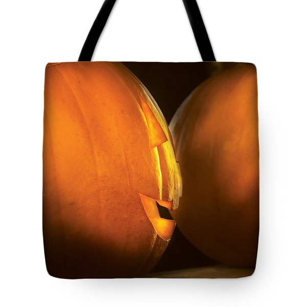 Autumn - Halloween -  Smile If Your Happy Tote Bag by Mike Savad