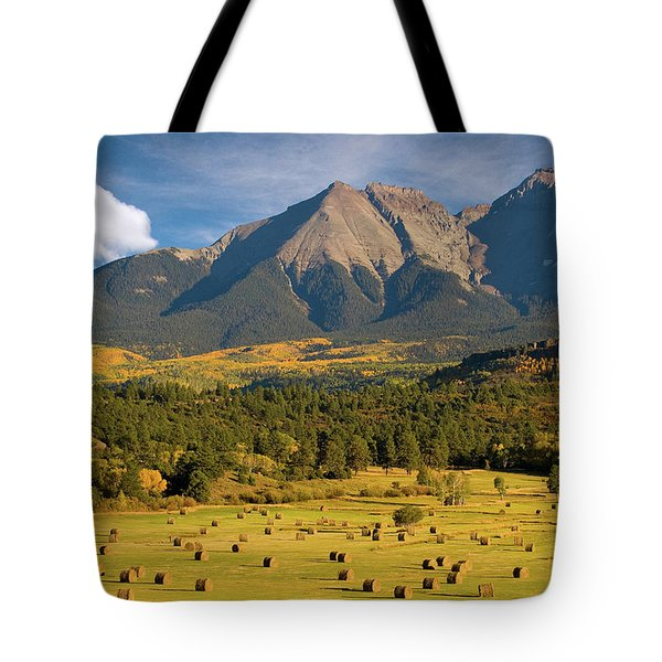 Autumn Hay In The Rockies Tote Bag