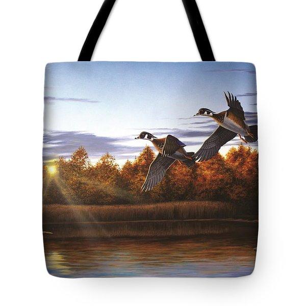 Autumn Home - Wood Ducks Tote Bag