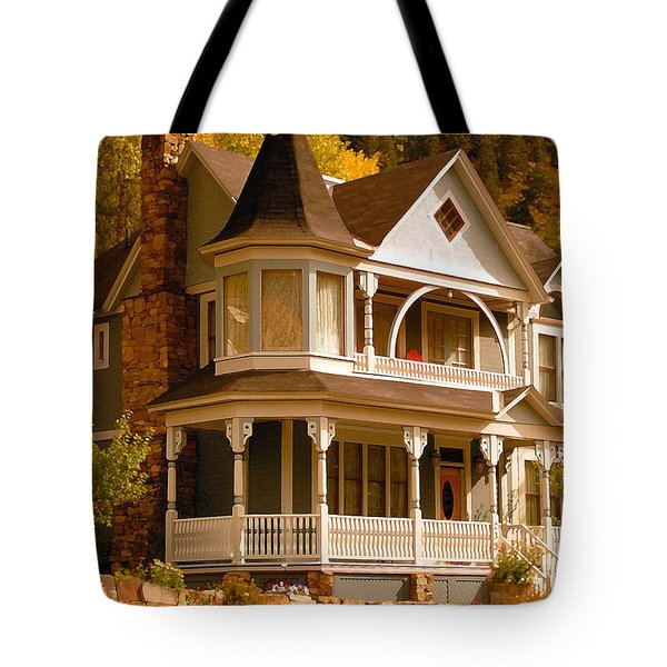 Autumn House Tote Bag by David Lee Thompson