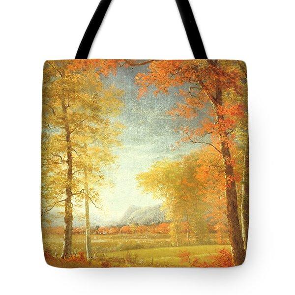 Autumn In America Tote Bag by Albert Bierstadt