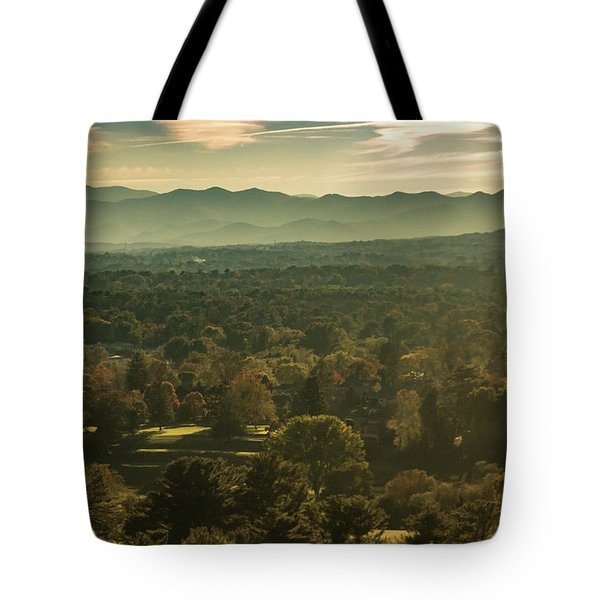 Tote Bag featuring the photograph Autumn In Ashville, Nc by Richard Goldman