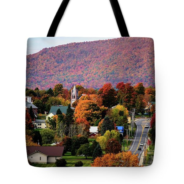Autumn In Danville Vermont Tote Bag by Sherman Perry