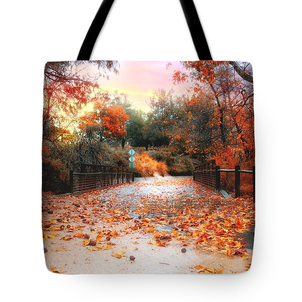 Autumn In Discovery Lake Tote Bag