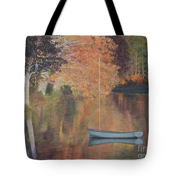 Autumn In Hamburg Cove Tote Bag
