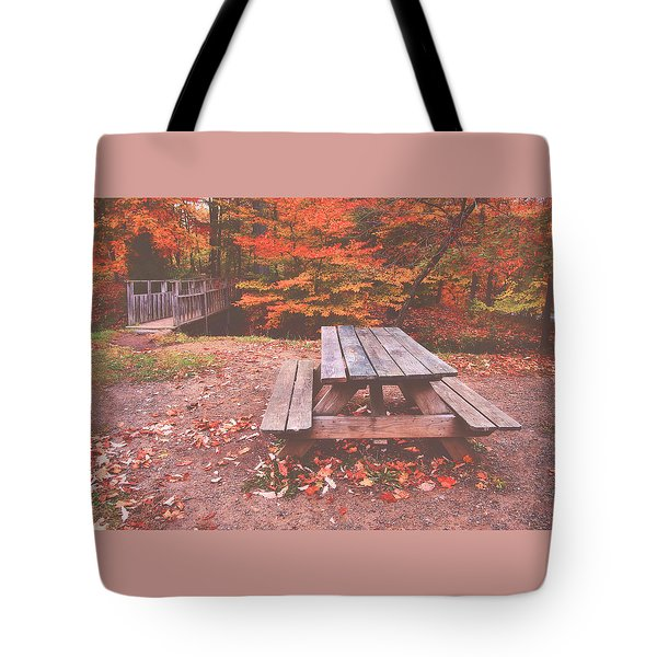 Autumn In High Bridge Tote Bag