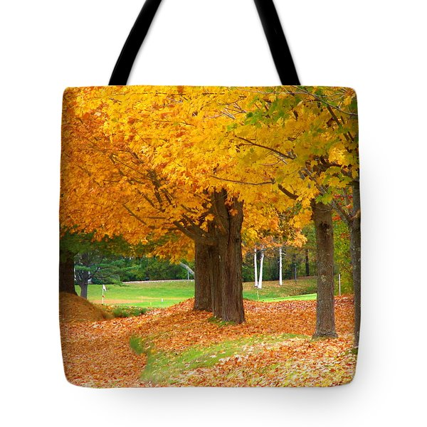 Tote Bag featuring the photograph Autumn In Maine by Jan Cipolla